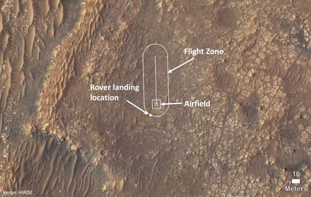 «Персеверанс» нашел подходящий аэродром для марсианского вертолета