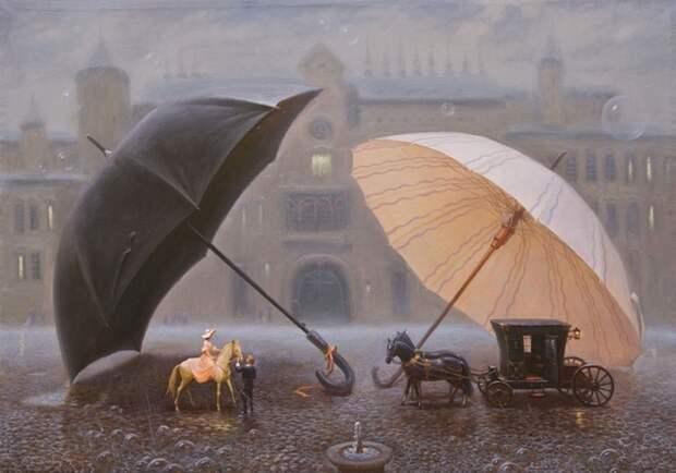 Раскрытый зонт