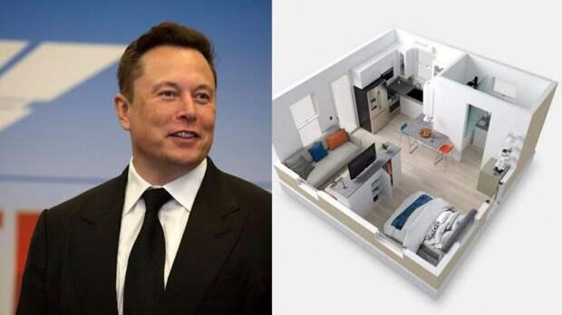Почти бездомный: Илон Маск поселился в домике, который арендовал у собственной компании