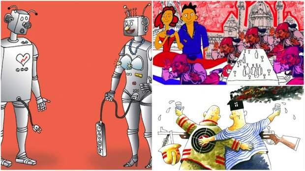 Весёлые карикатуры «Бесэдера?» без политики