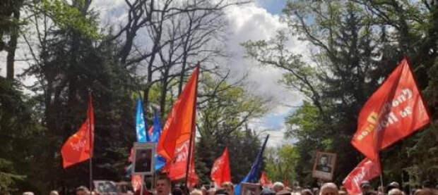 Украина начнет просыпаться с Харькова: утонувший в цветах Мемориал Славы и сотни автомобили с символикой Победы
