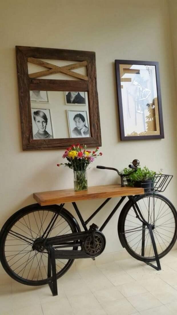 Оригинальное использование ненужного велосипеда
