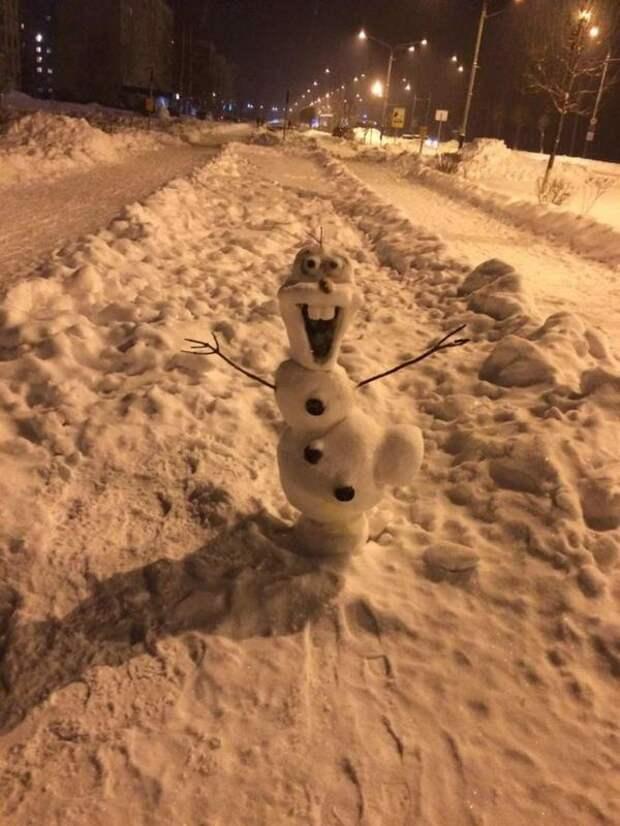 олаф снеговичок как делать