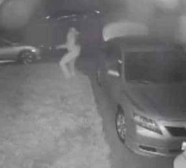 грабитель у машины