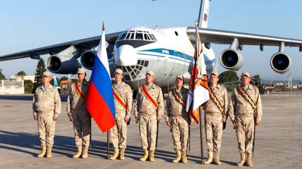 Военнослужащие отпраздновали День России на авиабазе Хмеймим в Сирии