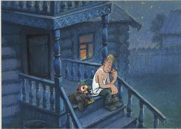 Ночью гляну с крыльца я... Вадим Шефнер