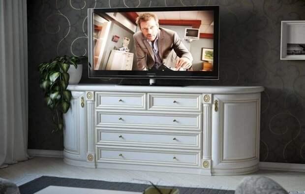 высокий комод под телевизор