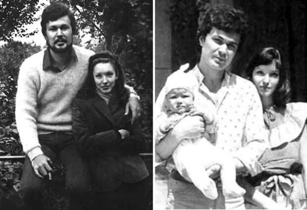 Актриса с первым мужем и дочерью | Фото: kino-teatr.ru и flibusta.site