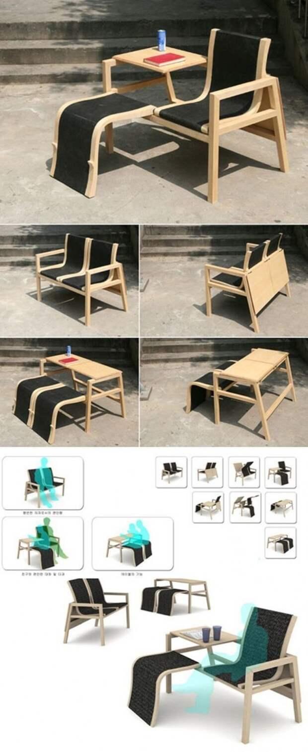 Диванчик? Столик? да все одновременно! Фабрика идей, интересное, мебель, полезное, трансформеры, эргономичность