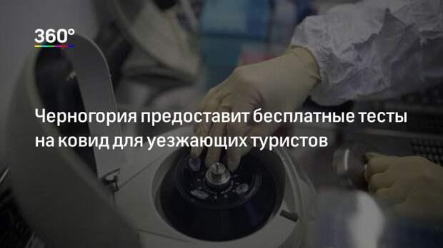 Черногория предоставит бесплатные тесты на ковид для уезжающих туристов