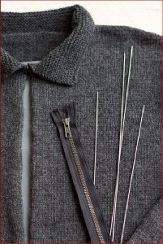 Вшивание молнии в вязаную кофту