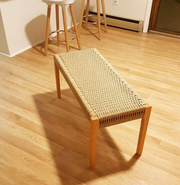 Плетеные сидения банкеток, стульев и не только своими руками