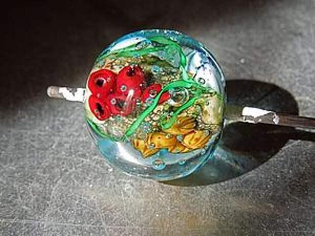 Создание стеклянного кулона-аквариума в технике лэмпворк   Ярмарка Мастеров - ручная работа, handmade