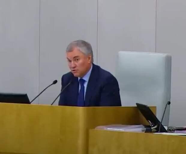 Володин: Вопрос о нарушениях со стороны IT-компаний нужно вынести на международное обсуждение
