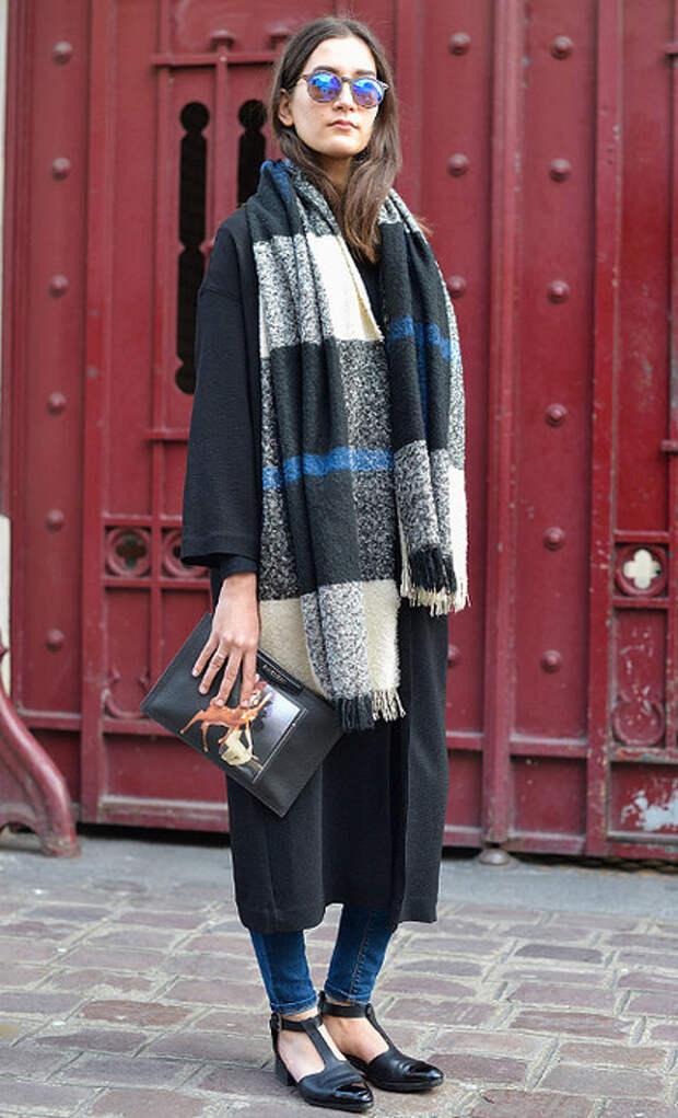 Стильные идеи с объемными шарфами