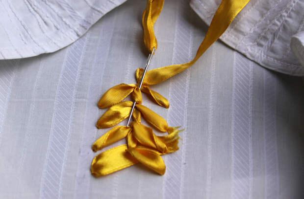 Вышивка атласными лентами дляначинающих