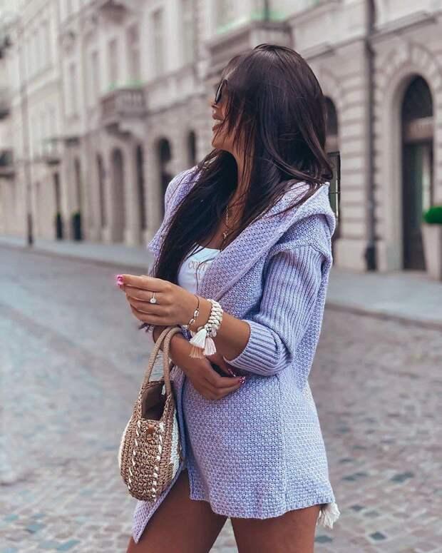 Как носить кардиган с капюшоном, какие есть особенности и 11 стильных фасонов