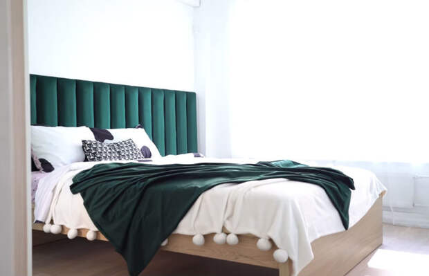 Супер-бюджетное, стильное и мягкое изголовье для кровати — по силам каждому