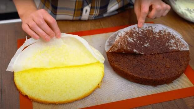 Торт «Птичье молоко» с кремом из манки! Очень нежный и вкусный