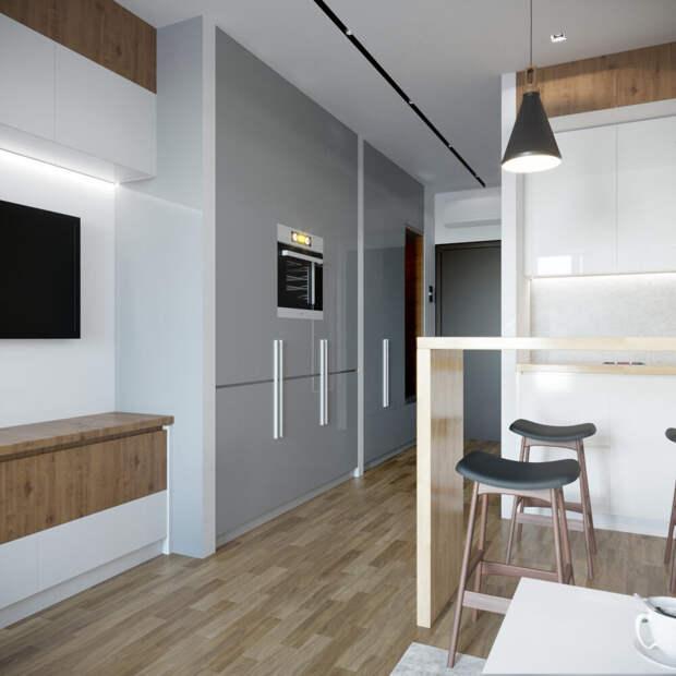 Удачная планировка для квартиры -студии. Совет дизайнера