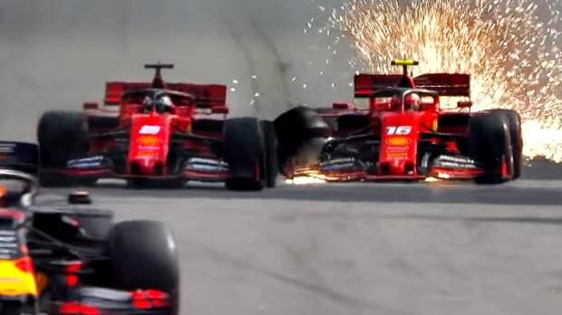 Авария Феррари, Гасли втоп-3, Хэмилтона лишили подиума, Квят вочках. Жаркий Гран-при Бразилии