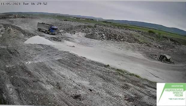 На рекультивируемом полигоне твердых коммунальных отходов в г. Белогорск установлены камеры видеонаблюдения
