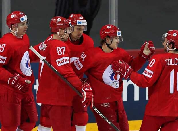 Россия разобралась с Данией и заняла второе место в группе на чемпионате мира по хоккею