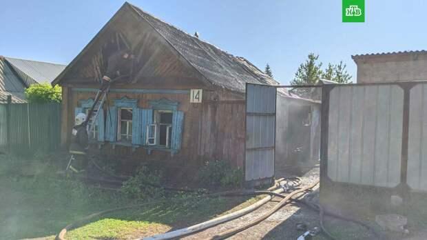 При пожаре в Оренбуржье погибла мать с двумя детьми