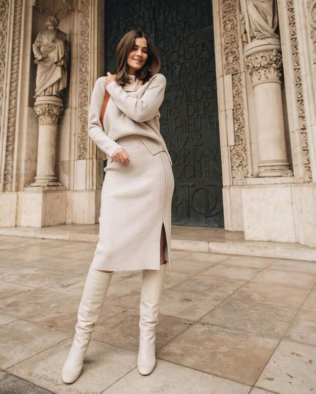 18 вариантов с чем носить узкую юбку, чтобы создать солидный образ