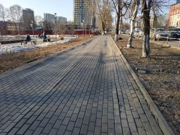 Брусчатку на улице Пушкинской вблизи Вишневого сквера в Ижевске восстановят к маю