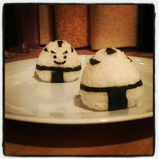 Очень мило оформленные блюда. По мотивам японской кухни