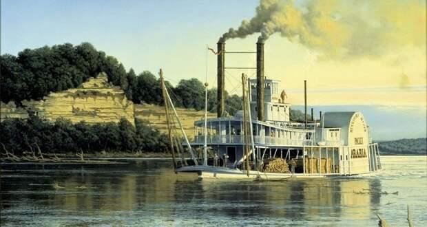 История парохода «Аравия», затонувшего в реке, а найденного в кукурузном поле