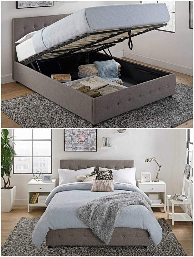 Такие кровати поместятся даже в самой маленькой комнате