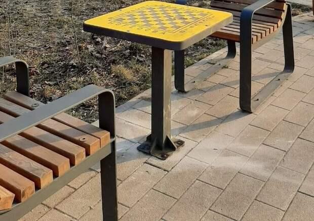 Вандалы украли шахматную доску в парке «Яуза»