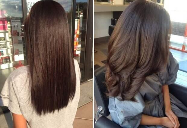 шоколадно-каштановый цвет волос