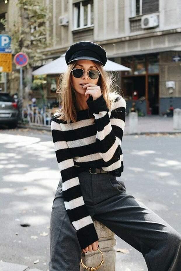 Как носить тельняшку стильно, как француженка, а не героиня «гоп-стопа»