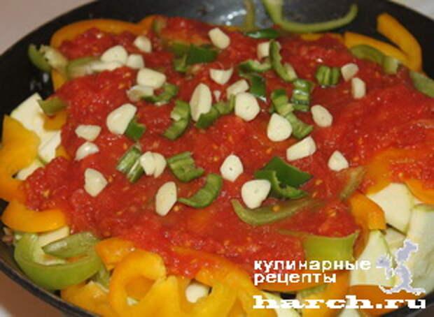 ragu is govyadini s kabachkami i baklaganami 12 Рагу из говядины с кабачками и баклажанами