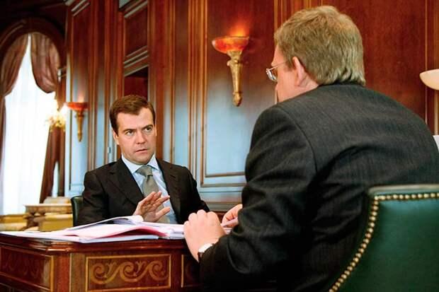 Медведев выслушал доклад Кудрина об исчезновении из строительной отрасли ₽5,3 трлн и обвинил в этом СССР