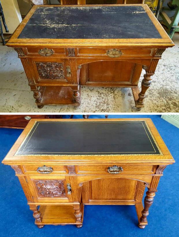 Реставрация письменного стола. | Фото: Izismile.com.