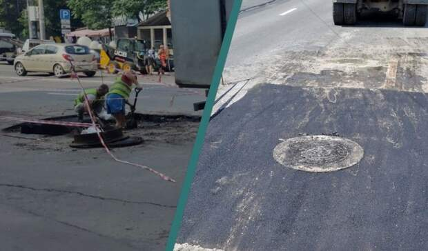 ВРостове-на-Дону виюле устранили два крупных дорожных провала