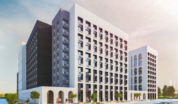 В районе Басманный ведется строительство жилого дома по программе реновации