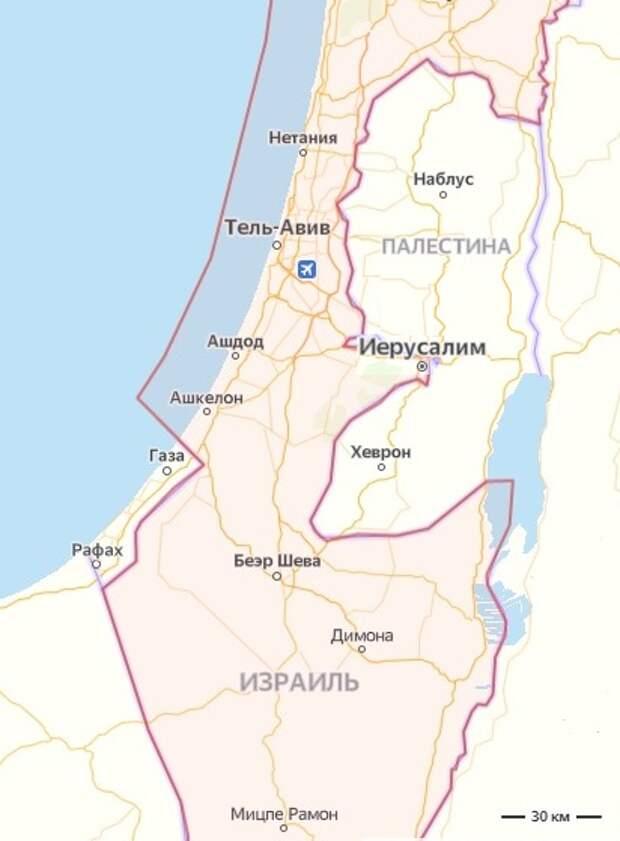 Карта на основе скриншота сервиса Яндекс.Карты