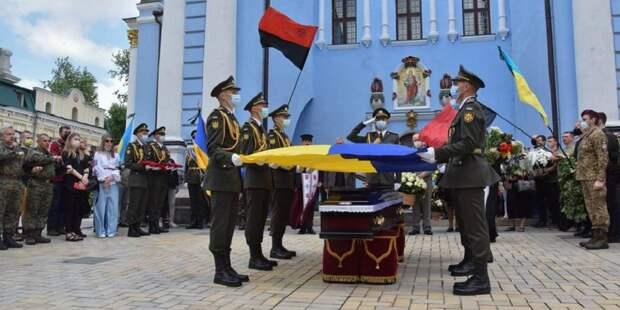 Полк Президента Украины был направлен на почётные похороны эсэсовца