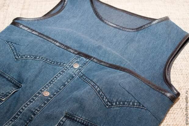 переделка джинсовой рубашки