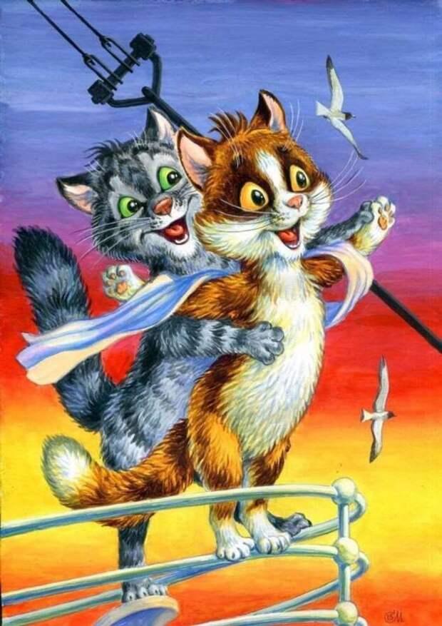 От «Бриллиантовой руки» до «Криминального чтива»: художник заменил актеров милыми котами (22 фото)