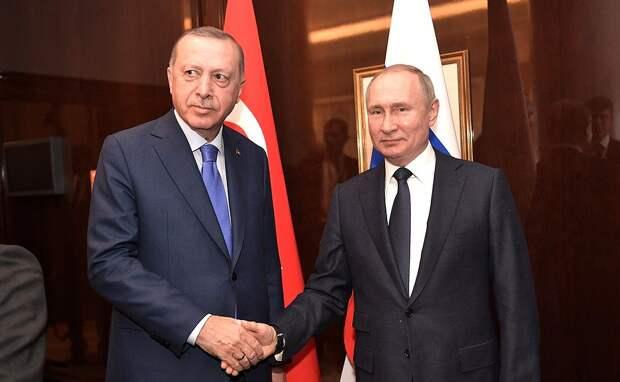 Путин и Эрдоган по телефону обсудили ситуацию в Сирии