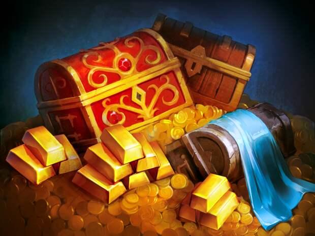 Сказка о рыцаре и его награде дракон, рыцарь, сокровища, юмор