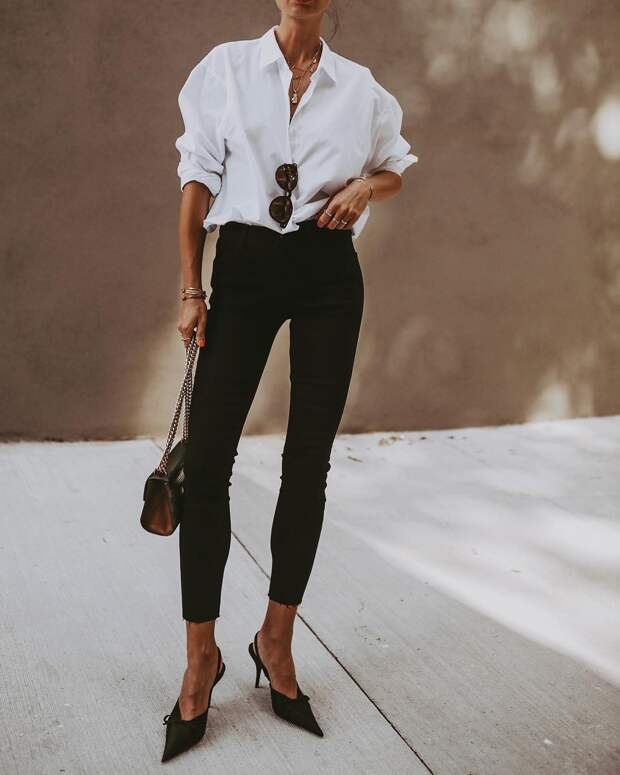 белая рубашка с джинсами фото 6