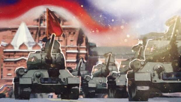 Парад Победы в Москве возглавили легендарные танки Т-34