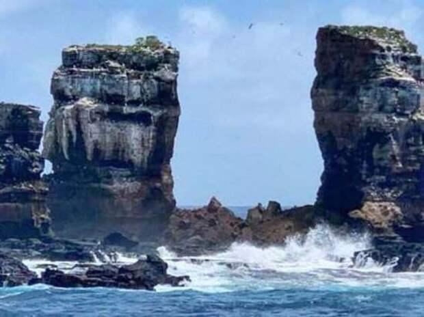 Знаменитая скала Арка Дарвина развалилась на Галапагосах
